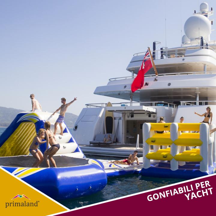 Primaland realizza giochi gonfiabili per yacht