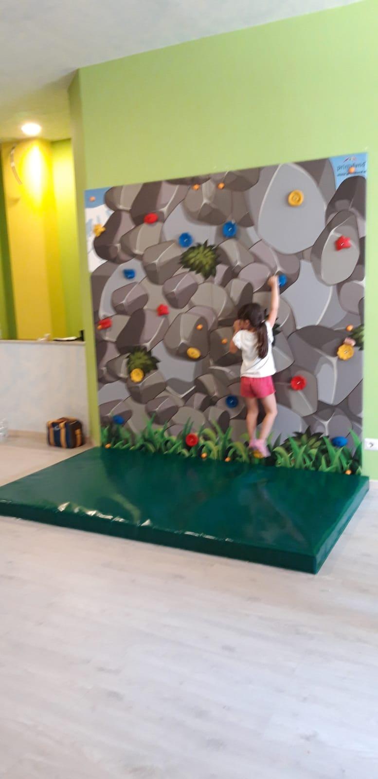 Parete da arrampicata per bambini